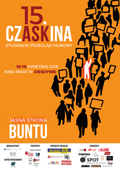 Plakat promujący przegląd filmowy