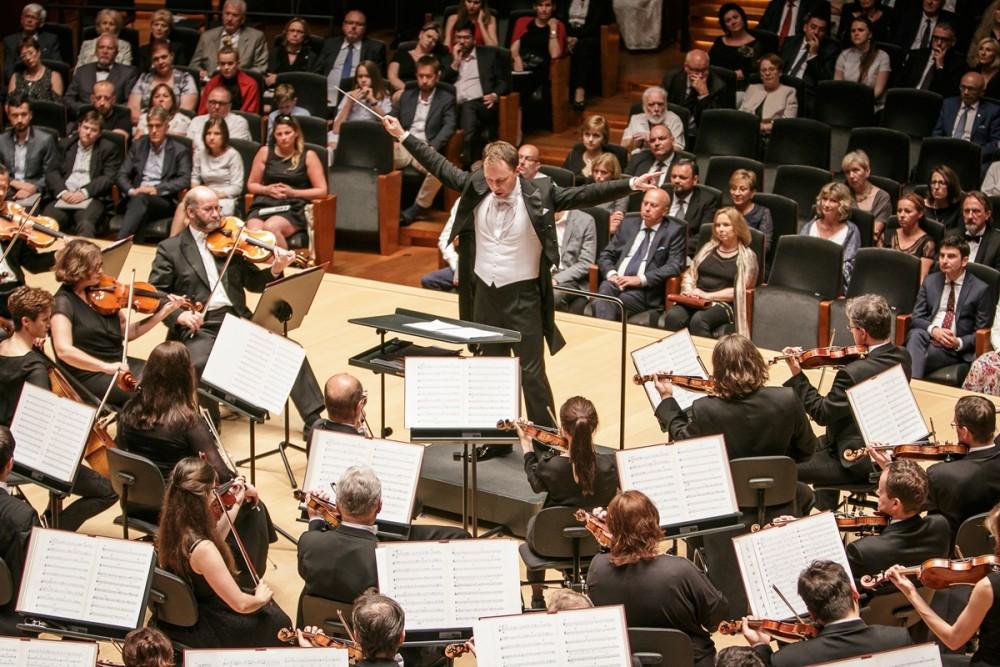 Orkiestra podczas koncertu (fot. Julia Agnieszka Szymala)