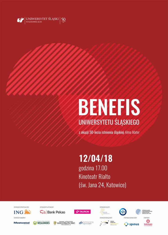 Plakat promujący benefis