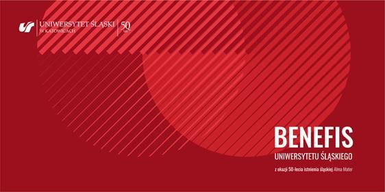Grafika promująca benefis Uniwersytetu Śląskiego