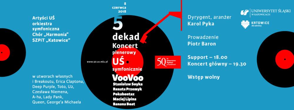 Grafika promująca koncert plenerowy