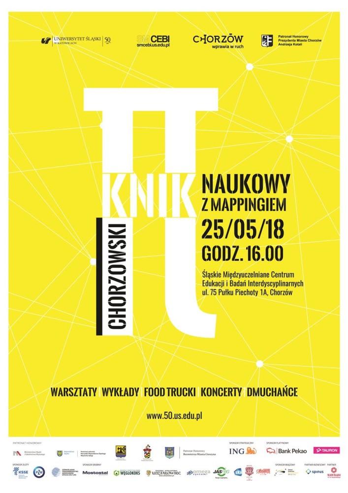 Plakat promujący Chorzowski Piknik Naukowy