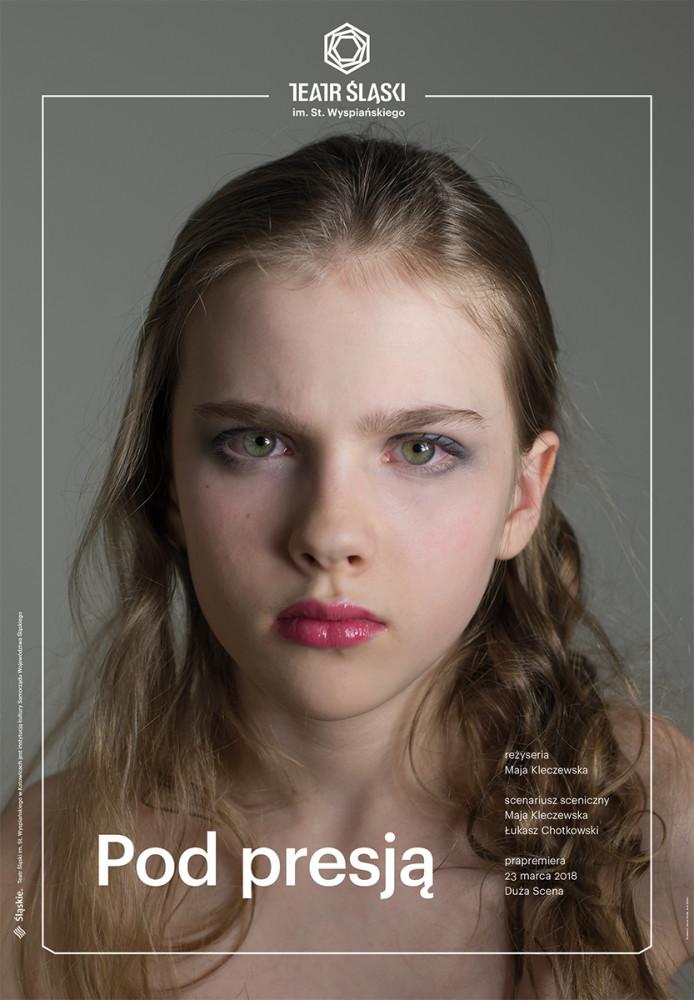Plakat promujący spektakl 'Pod presją'