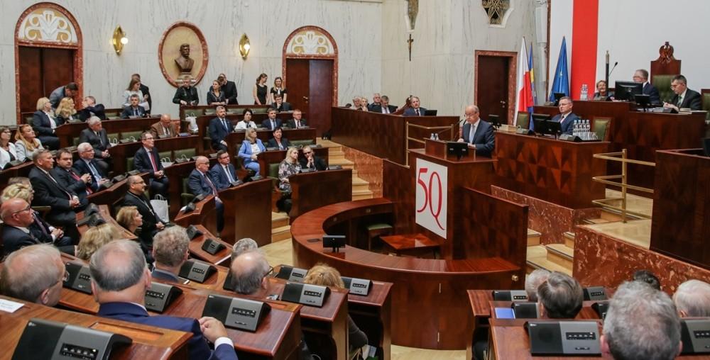 Sesja Sejmiku Województwa Śląskiego z okazji 50-lecia Uniwersytetu Śląskiego