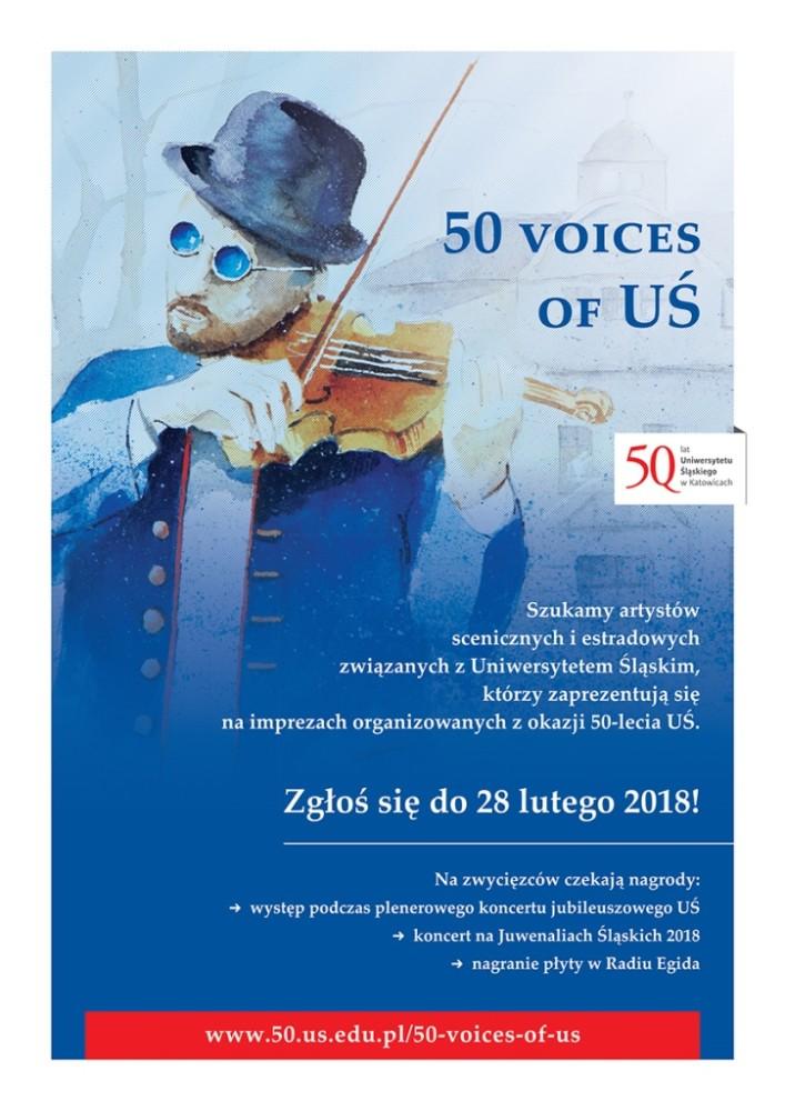 Plakat promujący akcję, w tle dr Primo jako skrzypek